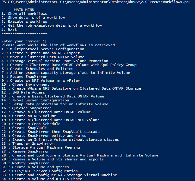 Interactive execution of Workflows as CLI using REST APIs in