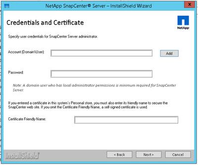 Specifying Admin user