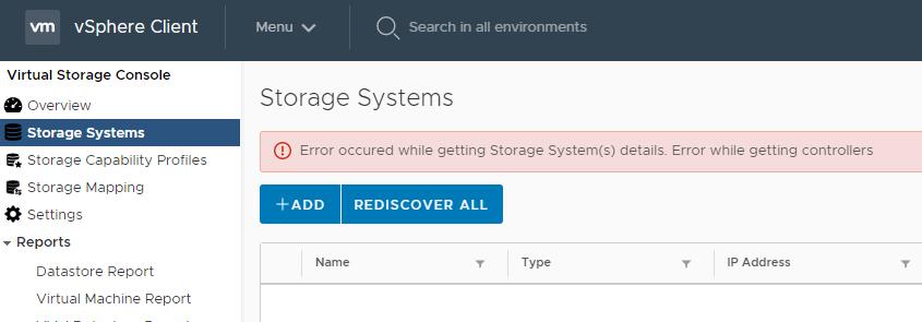 VSC Storage System Error.png