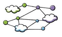Cloud world illustration