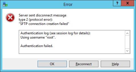SFTP can not login in - NetApp Community