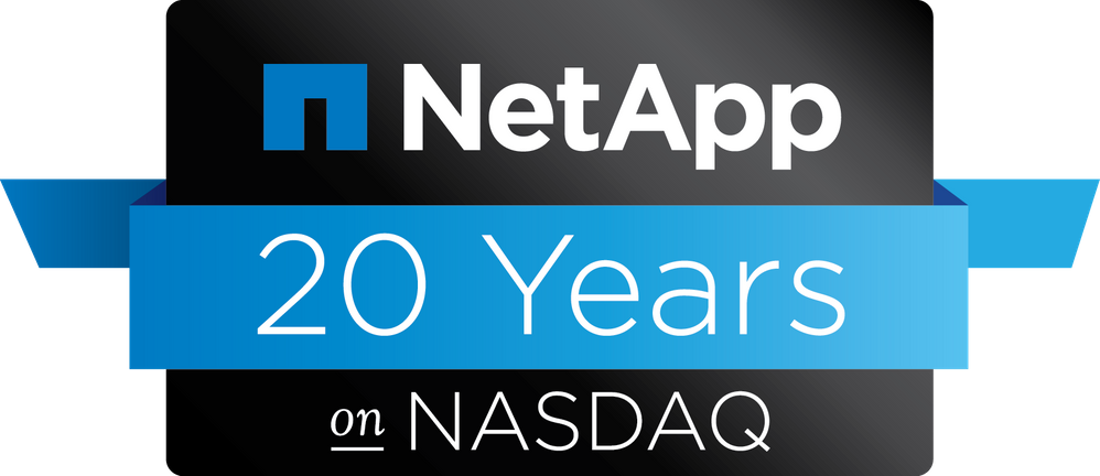 NetApp 20 Years on Nasdaq
