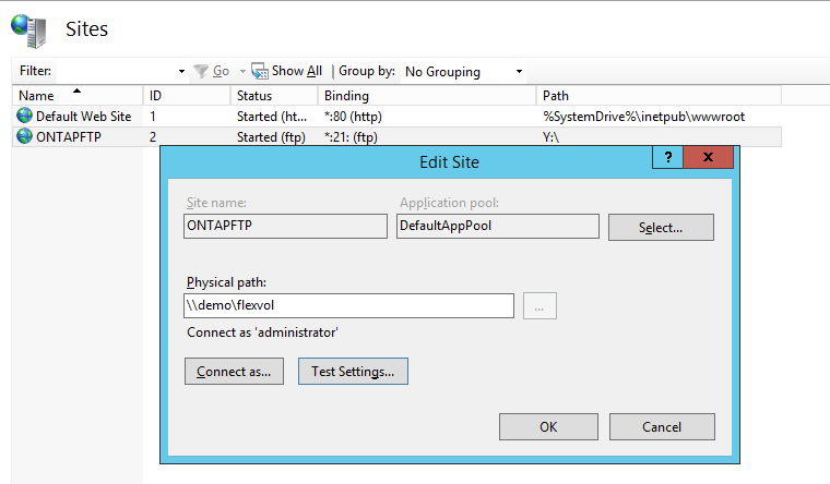 ONTAP Recipes: Configuring an external FTP host to serve