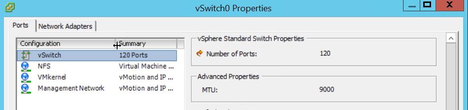 vSwitch0 Properties