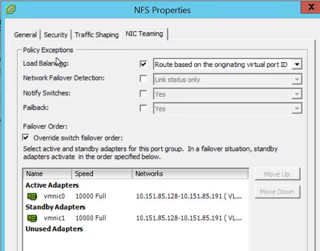 NFS Properties