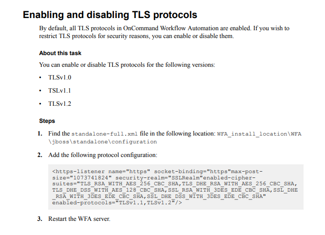 Upgraded WFA 4 0 to 4 2 receiving SOAP and REST SSL errors